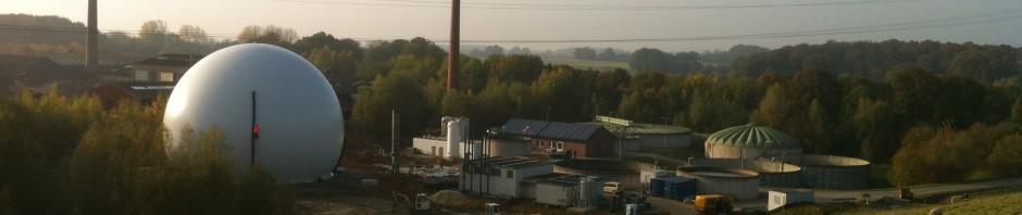 Gasspeicher Biogasaufbereitungsanlage Coesfeld - Ingenieurbüro H. Berg & Partner GmbH Aachen
